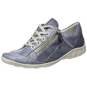 Remonte R3419, Sneakers Basses Femme, Bleu (Jeans/Denim/Denim/Jeans), 40 EU