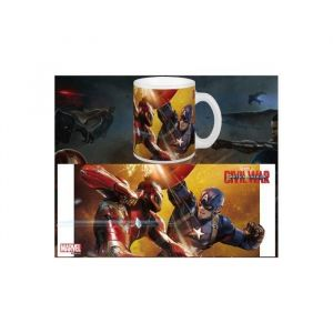 Semic Distribution Mug Fight Captain Vs Iron Man