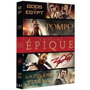 Coffret épique : Pompéi + Gods of Egypt + La Colère des Titans + 300 : la Naissance d'un Empire