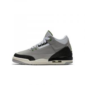 Nike Chaussure Air Jordan 3 Retro pour Enfant - Gris - Taille 35.5