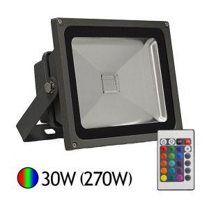 Vision-El Projecteur Led 30W (285W) RGB 16 couleurs avec télécommande -