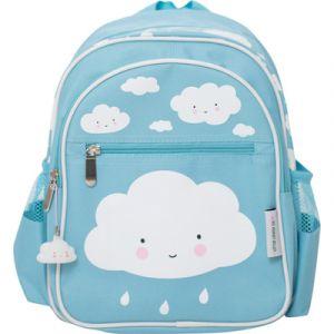 A Little Lovely Company Sac à dos enfant nuage bleu