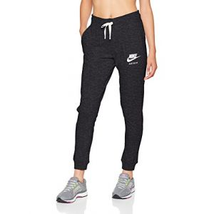 Nike Sportswear Gym Vintage Pant Pantalon Femme, Black/sail, FR : S