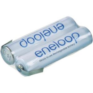 Sanyo Eneloop - 2 accus à cosses Z AAA (R03) NiMH 2,4V 800 mAh