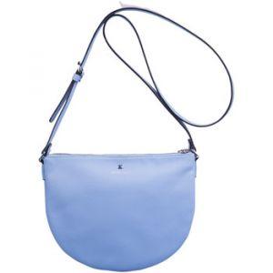 Kesslord Luna trendy - Sac bandoulière en cuir - bleu ciel