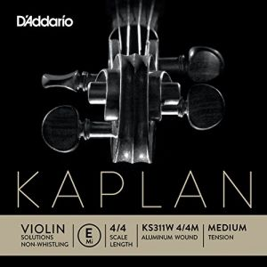 D'Addario KS311W Kaplan Mi anti-sifflement filé aluminium pour Violon 4/4
