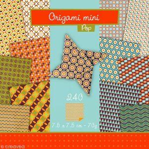 Avenue mandarine 42688O - Pochette Origami Mini, Pop, 7,5 x 7,5 cm, 240 feuilles 70 g/m²