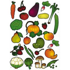 Maildor Maxi gommette adhésive, fruit et légume