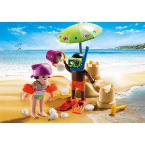 Playmobil 9085 Special Plus - Enfants et château de sable