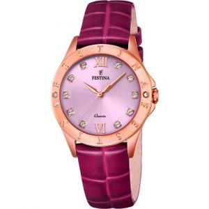 Festina F16930-B - Montre pour femme avec bracelet en cuir