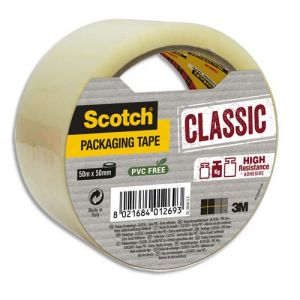 Scotch CL5050-ST - Ruban adhésif d'emballage Classic, transparent, 50mm x 50m, ép. 43µ (BP966)