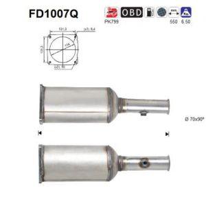 AS Filtre à particules (échappement) PEUGEOT 407, CITROEN C5 (FD1007Q)