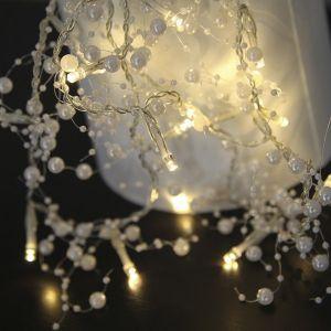 Image de Xmas Living Glass PÄRLA Garland Guirlande de table Perles Blanc Led 1,15m Guirlande et objet lumineux designé par Best Season