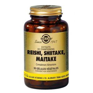 Solgar Reishi, Shiitaké, Maitaké - 50 gélules