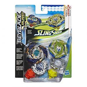 Hasbro Pack de 2 toupies Slingshock SS Fafnir F4 et Rudr R4
