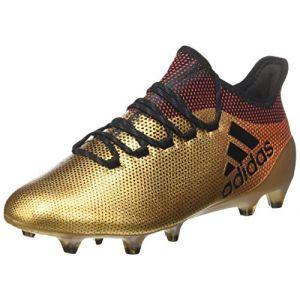 Adidas X 17.1 FG, Chaussures de Football Homme, Or (Tagome/Cblack/Solred), 44 2/3 EU