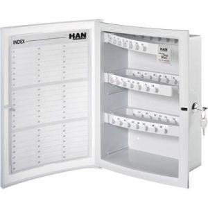 Han 4023-11 - Armoire à clés INDEX, pour 63 clés, coloris gris clair