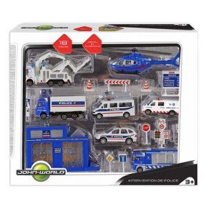 John World Coffret véhicules de police