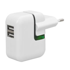 Snakebyte SB906664 - Chargeur de voyage muni de 2 ports USB [US/EU/UK] pour Apple iPhone iPad