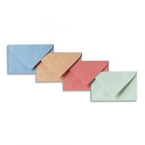 La couronne Enveloppes élection - 75g - 9 x 14 cm - coloris assortis bleu/bulle/rose/vert - boîte de 200