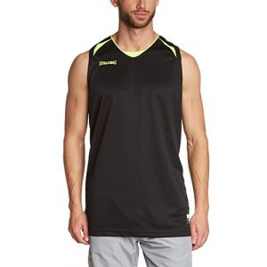 Spalding Spalding Attack Maillot de basketball homme Noir/Néon Jaune FR : S (Taille Fabricant : S)
