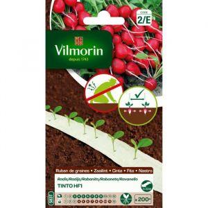 Image de Vilmorin Radis Tinto 2 x 2,5 m - Ruban de graines