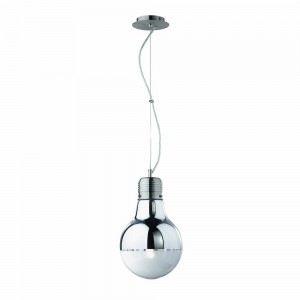 Lampe Luce Cromo en métal et verre