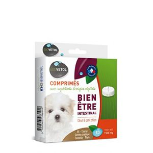 Biovetol Comprimés Bien-être intestinal chiot et petit chien x3