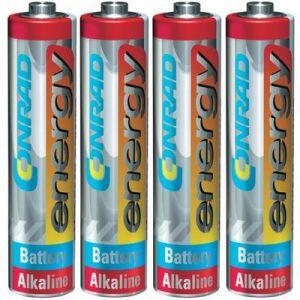 Pile LR03 (AAA) alcalines Conrad energy Extreme Power LR03 1.5V x4