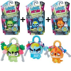 Hasbro LOCK STARS Série 1 - Multi Pack : Orange Dinosaur + Blue H… HASE4607EP40