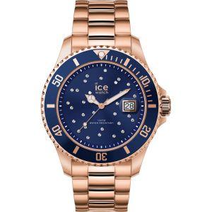 Ice Watch Ice-Watch - ICE steel Blue cosmos rose-gold - Montre rose-gold pour femme avec bracelet en metal - 016774 (Medium)