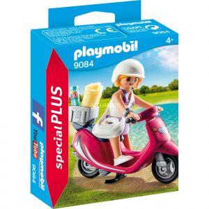 Playmobil 9084 Special Pus - Vacancière avec scooter