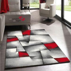 Nazar BRILLANCE Tapis De Salon 80x150 Cm Rouge, Noir Et Gris 80x150 Cm    Coloris