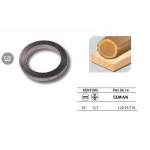 Leman 129.35.710 - 1 Rouleau de 50 mètres Lame scie à ruban en acier C75 35x0,7 pas de 10