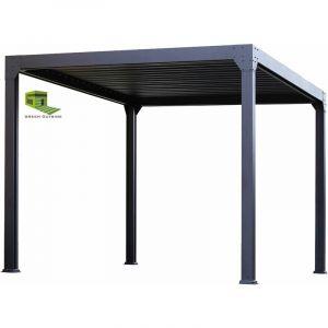 Green Outside Pergola Bioclimatique ACTUAL 3x4m, électrique avec éclairage LED. Qualité PRO
