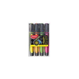 Maped Pochette de 4 surligneurs Fluo'Peps Max - coloris assortis