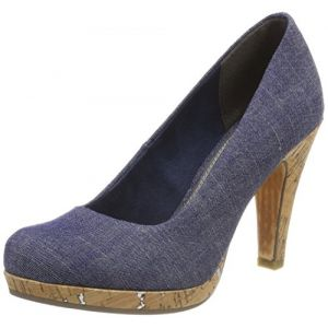 Marco Tozzi 22450, Escarpins Femme, Bleu (Jeans Comb), 38 EU