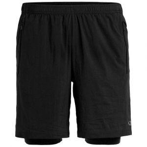 Icebreaker Mens Impulse Training Shorts Black Shorts trail