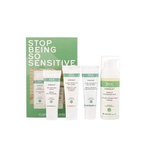 REN Evercalm Stop Being So Sensitive - Kit Lait Nettoyant, Crème de Jour, Sérum