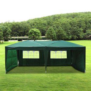 Outsunny Tonnelle barnum tente de réception pliante 3 x 6 m vert