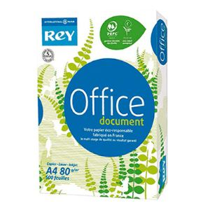Rey Ramette de 500 feuilles Office Document A4 coloris blanc 80g