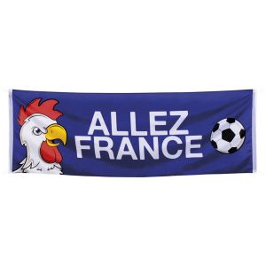 "Grande bannière Football ""Allez la France"" (2m20)"