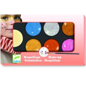 Djeco Palette de maquillage 6 couleurs Effet métallique