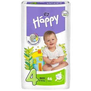 Bella Baby Happy Maxi taille 4 (8-18 kg) - 46 couches