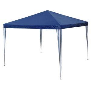 TecTake Tonnelle de jardin bleu 3 x 3 x 2,50 m