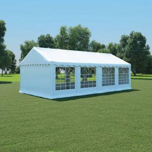 VidaXL Chapiteau de jardin PVC 4 x 8 m Blanc