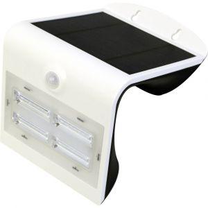 Megatron Applique murale solaire extérieure avec détecteur de mouvements Wave M MT70003 3.2 W blanc neutre blanc