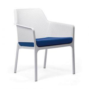 Nardi Coussin d'assise pour fauteuil de jardin NET RELAX 57x52 par - Bleu Outremer - Extérieur - Fermeture Zip
