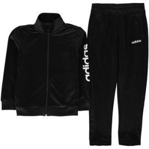 Adidas Ensembles de survêtement Linea Ensemble Survêtement Polyester Noir - Taille 11 / 12 ans,13 ans,7 / 8 ans,9 / 10 ans