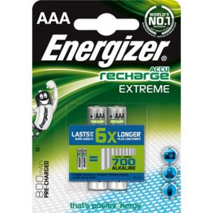 Energizer 2 piles rechargeable AAA/R03 800mAh